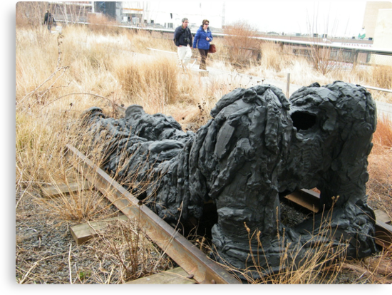 Artwork on the High Line, New York City's Elevated Garden and Elevated Park  by lenspiro