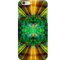 Futuristic green and yellow sphere iPhone Case/Skin