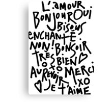 I HEART FRENCH Canvas Print