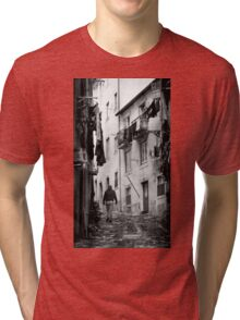 Alfama Life Lisbon Portugal BW Tri-blend T-Shirt