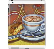 Yellow Dutch Bicycle with Cappuccino and Biscotti iPad Case/Skin