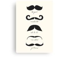 Monsieur Moustache Canvas Print