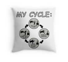 My Cycle  Throw Pillow