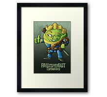 Fall(spr)out Sprout Boy  Framed Print