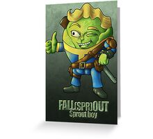 Fall(spr)out Sprout Boy  Greeting Card