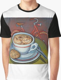 Red Dutch Bicycle with Cappuccino and Amaretti Graphic T-Shirt