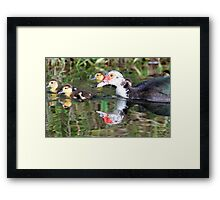Mother and children Framed Print