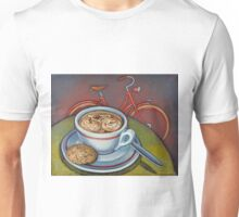 Red Dutch Bicycle with Cappuccino and Amaretti Unisex T-Shirt
