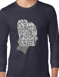 porcelain ivory steel Long Sleeve T-Shirt