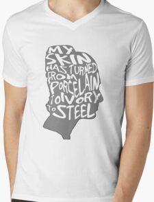 porcelain ivory steel Mens V-Neck T-Shirt