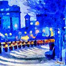 Blue January Night in the City by DiNovici