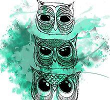Owl totem SY:2 by nakeciawinona