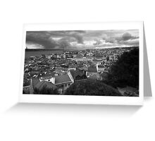 Lisbon Portrait BW Greeting Card