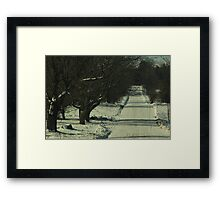 Icy Roads Of The North Framed Print