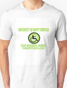 "The Happy Cripple University Tee - ""Vixi Discrepo Audeo"" T-Shirt"