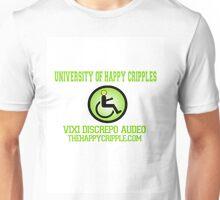 "The Happy Cripple University Tee - ""Vixi Discrepo Audeo"" Unisex T-Shirt"