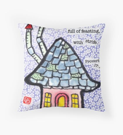 House and Home (v.5) Throw Pillow