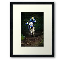 Enduro bike rider Framed Print