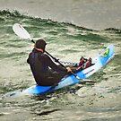 Surfski Paddling at Bells Beach by Darren Stones