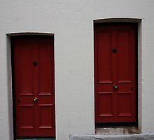 2 Red doors, The Rocks by Ian Ramsay