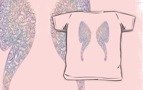 Wing Back Shirt Pastel Sparkles by Amy-Elyse Neer