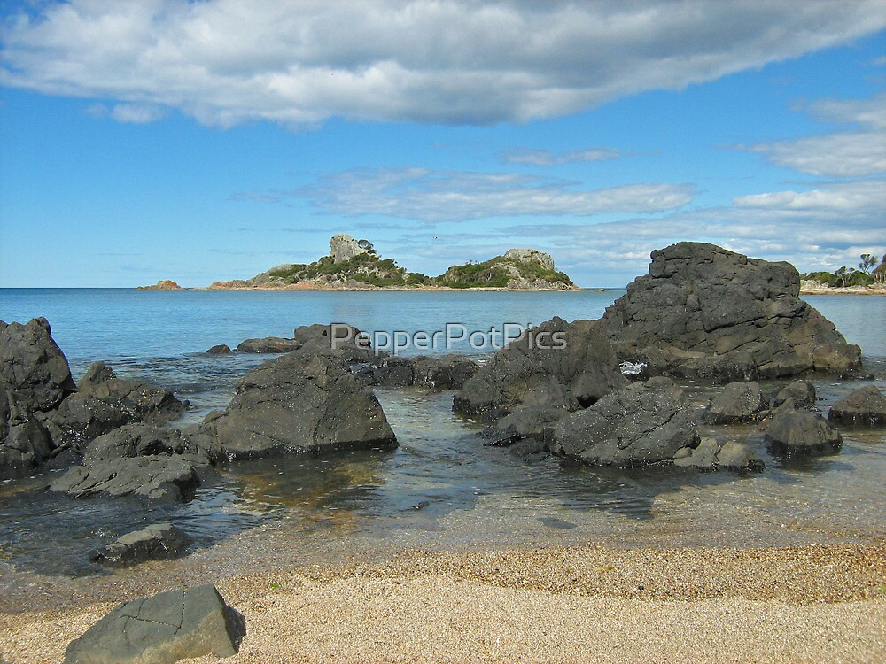 Goat Island- Northwest Coast Tasmania between Ulverstone and Penguin by PepperPotPics