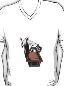 Grim Reaper Death Coffin Retro  T-Shirt