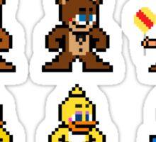 8-bit Five Nights at Freddy's Sticker