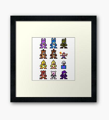 8-bit Five Nights at Freddy's Framed Print