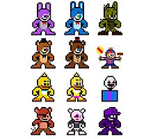 8-bit Five Nights at Freddy's Photographic Print