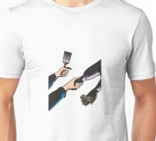 Hands Barter Paint Brush Cell Phone  Unisex T-Shirt