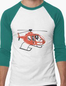 Helicopter Chopper Retro  Men's Baseball ¾ T-Shirt