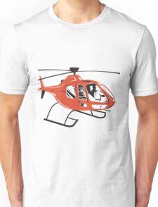 Helicopter Chopper Retro  Unisex T-Shirt