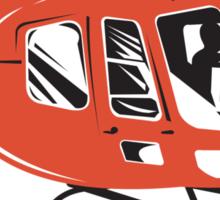 Helicopter Chopper Retro  Sticker