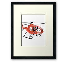 Helicopter Chopper Retro  Framed Print