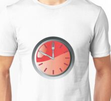 wall clock spoon and fork eating time  Unisex T-Shirt