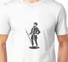 Indian Sikh Guard Retro Unisex T-Shirt