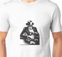 Poker Player Gambler Gambling Retro  Unisex T-Shirt