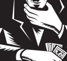 Poker Player Gambler Gambling Retro  Sticker