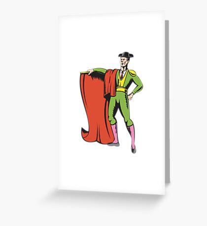 Bullfighter Matador Bullfighting  Greeting Card