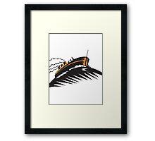 passenger cargo ship Framed Print