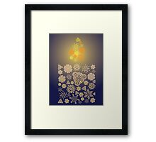 Candle Made of Snowflakes Framed Print