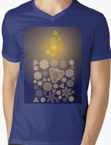 Candle Made of Snowflakes Mens V-Neck T-Shirt