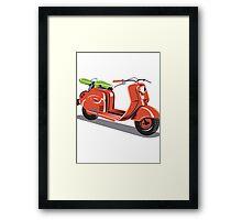 Vintage Motor Scooter Retro  Framed Print