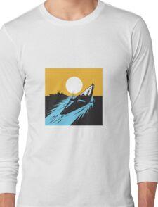 Submarine Boat Retro  Long Sleeve T-Shirt