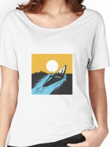 Submarine Boat Retro  Women's Relaxed Fit T-Shirt