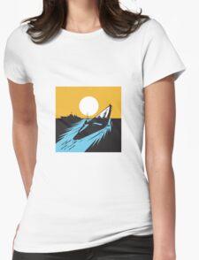 Submarine Boat Retro  Womens Fitted T-Shirt