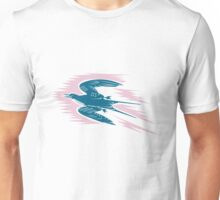 Tern Flying Woodcut  Unisex T-Shirt