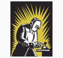 Welder Metal Worker Welding Retro   T-Shirt