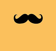 Funny Black Mustache 2 by Nhan Ngo